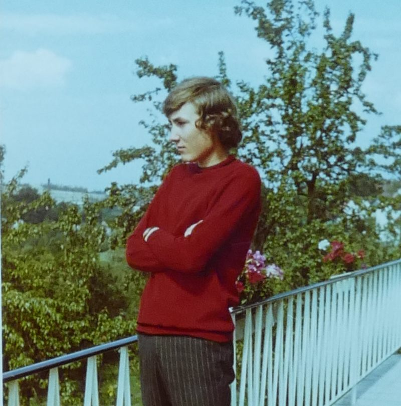 Primaner 2 auf dem Balkon