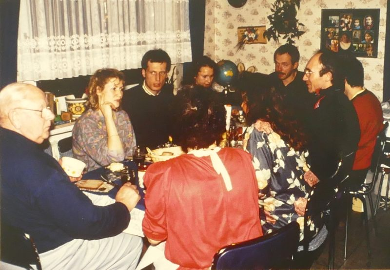 Birgit, Martin, Gundi, Charly bei uns