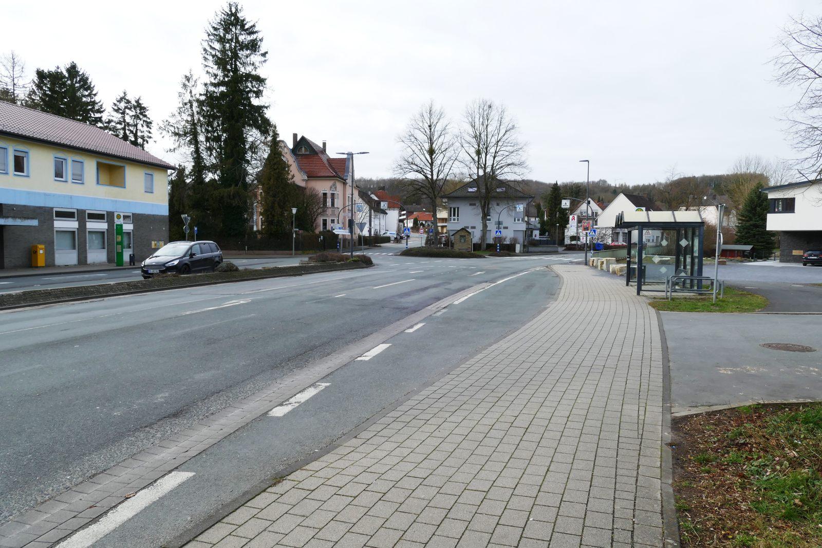 Hier soll ein Kreisverkehr gebaut werden: 21.02.2020