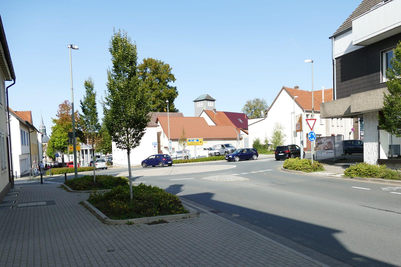 Kreisverkehr Burgstraße/Bruchstraße