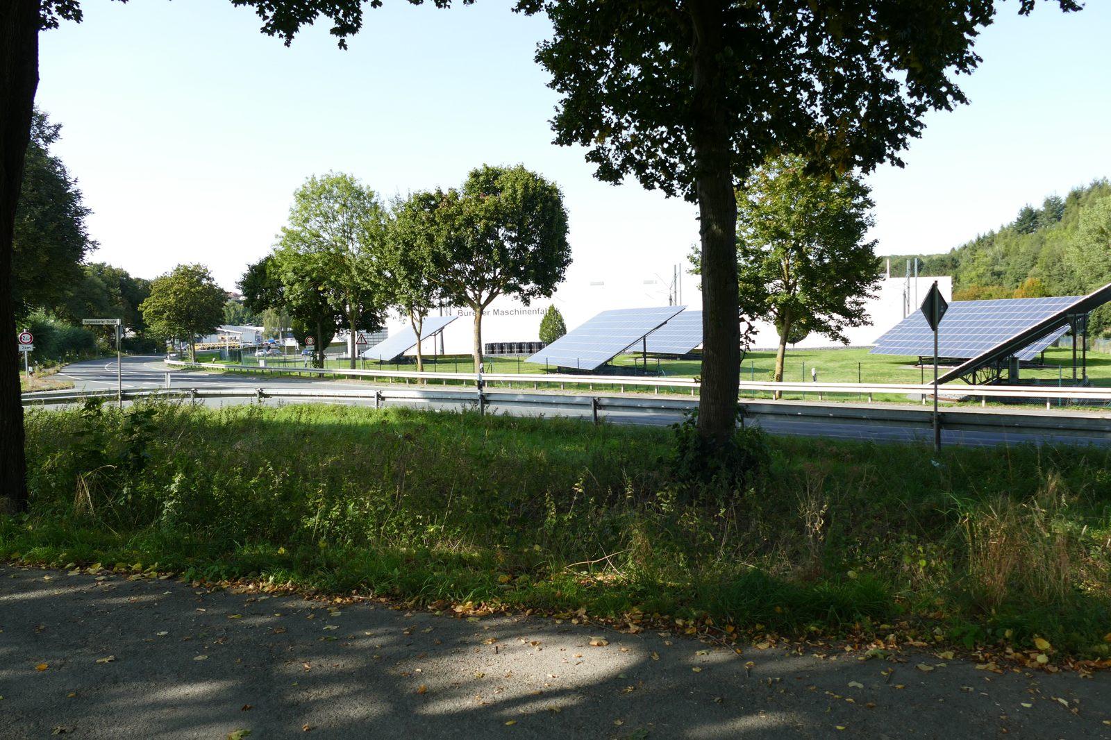 Photovoltaik an der Fürstenberger Straße