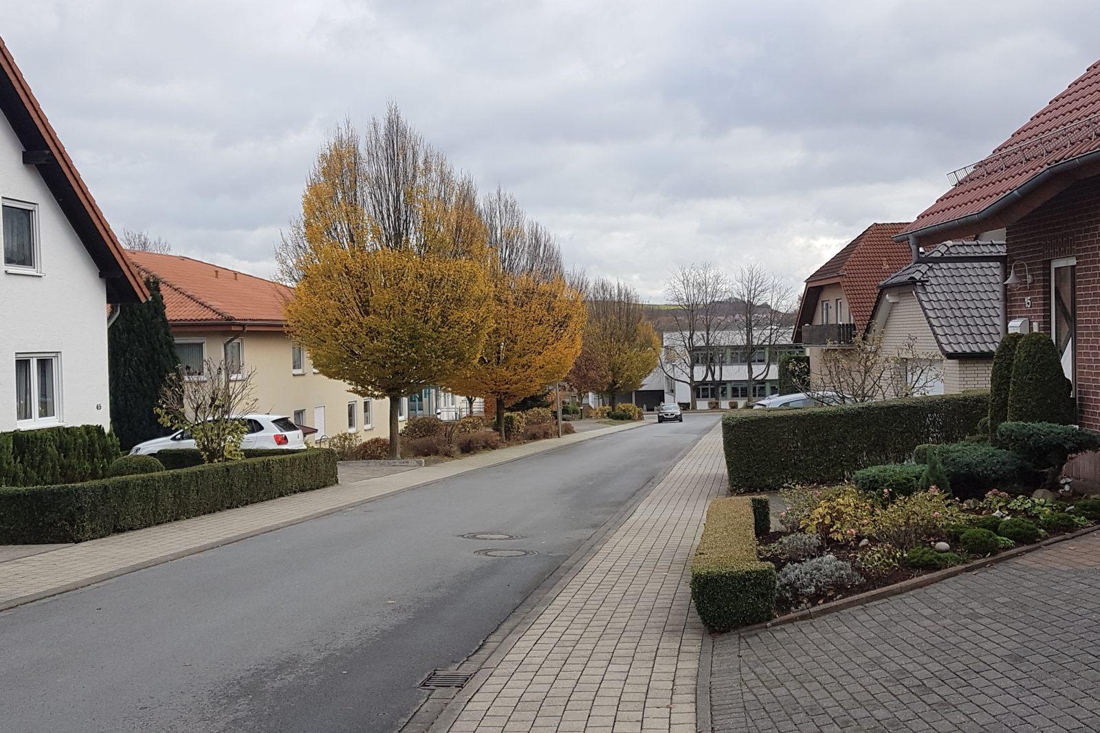 Josef-Pape-Straße im Nov. 2020