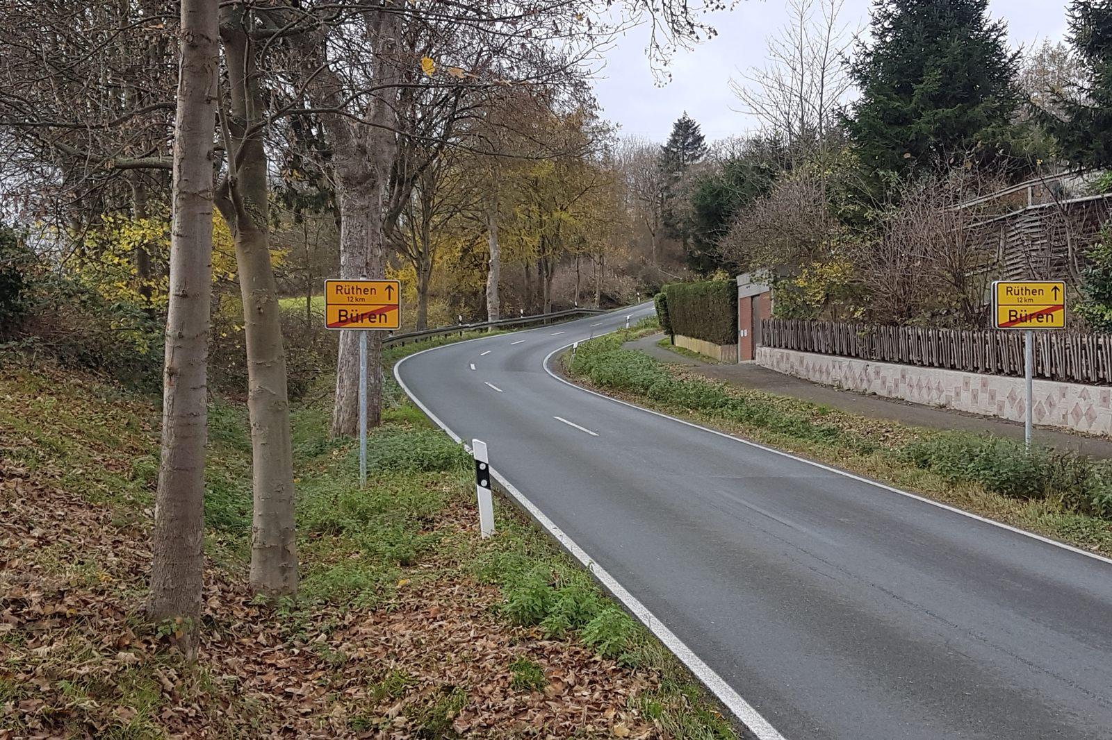 Eickhoffer Straße im Nov. 2020