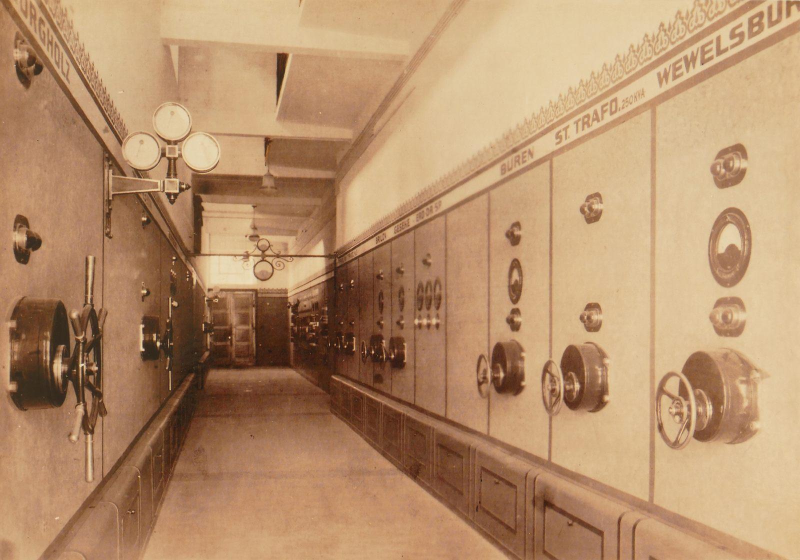 In der Elektrizitäts-Centrale am Eselsweg Ende der 1920er
