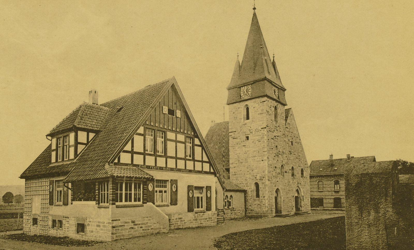 Erlöserkirche oder evangelische Kirche in den 1900ern
