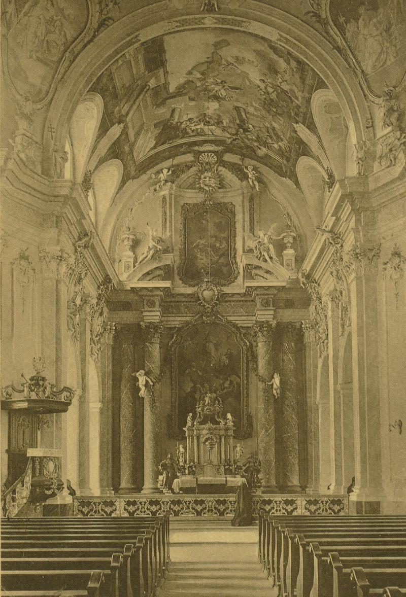 Innenraum der Jesuitenkirche  1927