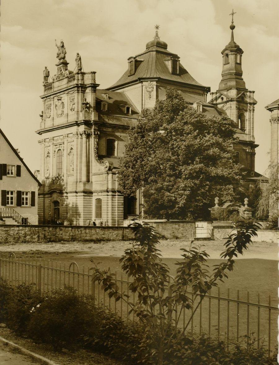 Blick auf die Jesuitenkirche 1960