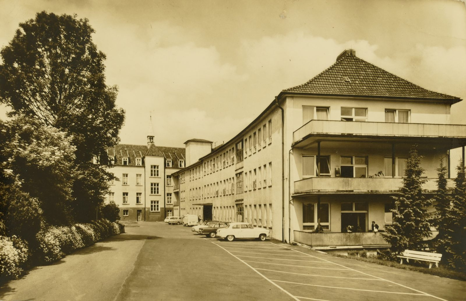 Krankenhaus in den 1960ern