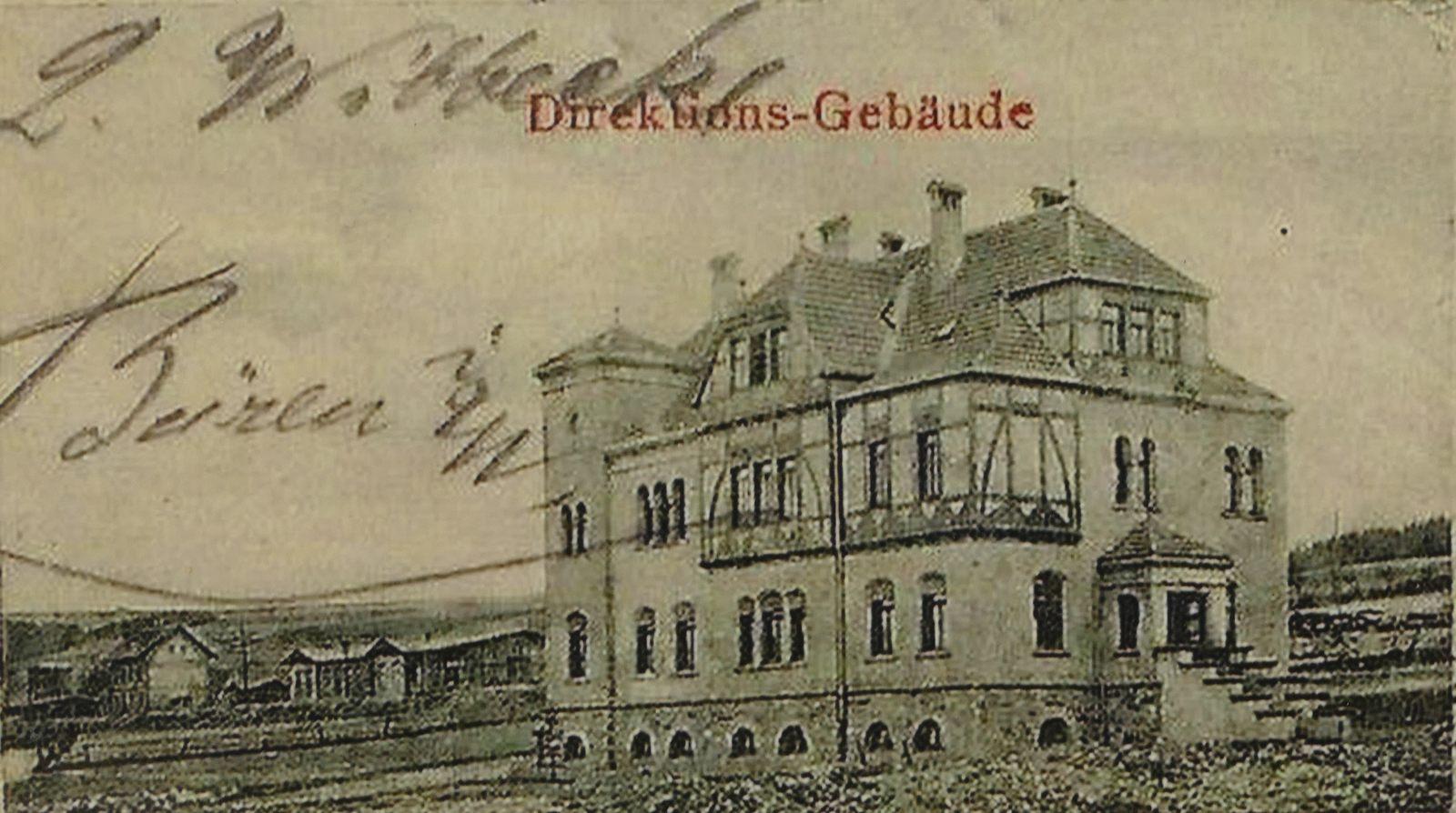 Burania Direktionsgebäude im Jahre 1901