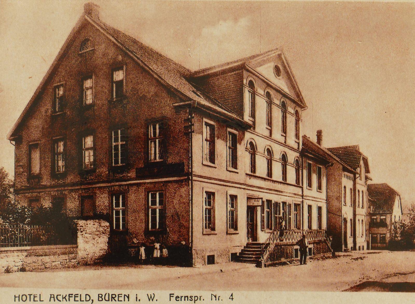 Hotel Ackfeld um 1910
