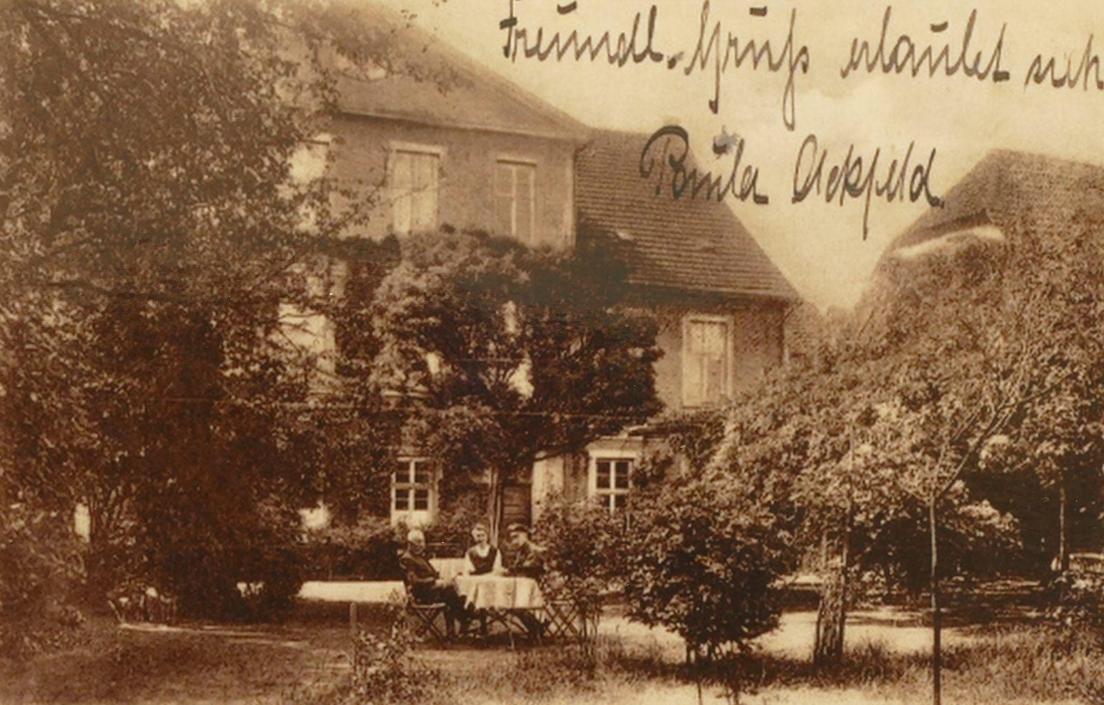 Hotel Ackfeld 1921: Gartenseite