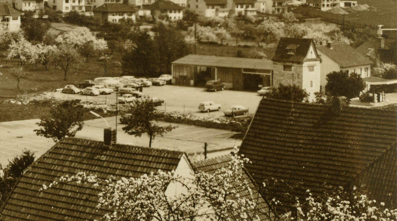 Autohaus Voss in den 1960er Jahren
