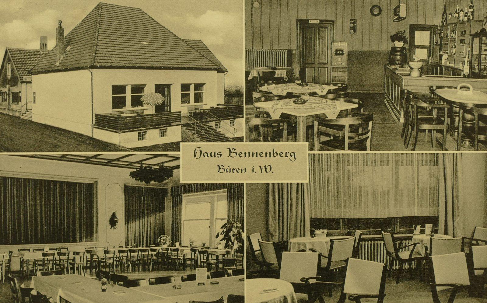 Gaststätte Bennenberg in den 1950er