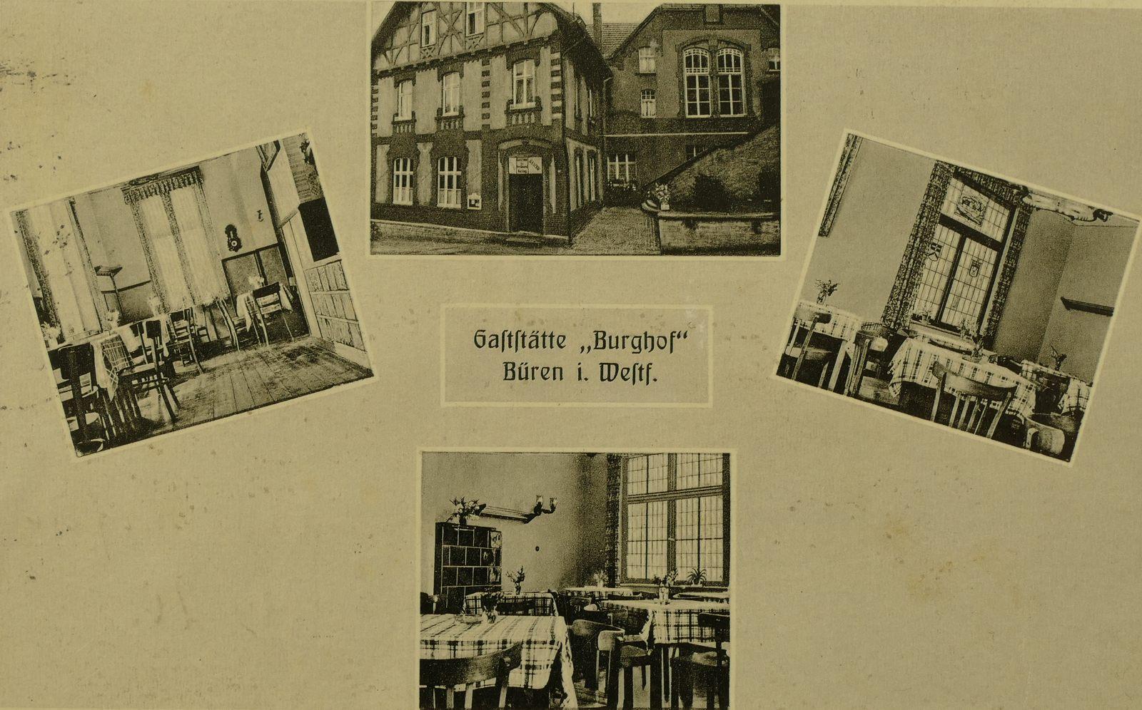 Burghof / Gaststätte Küting 1952