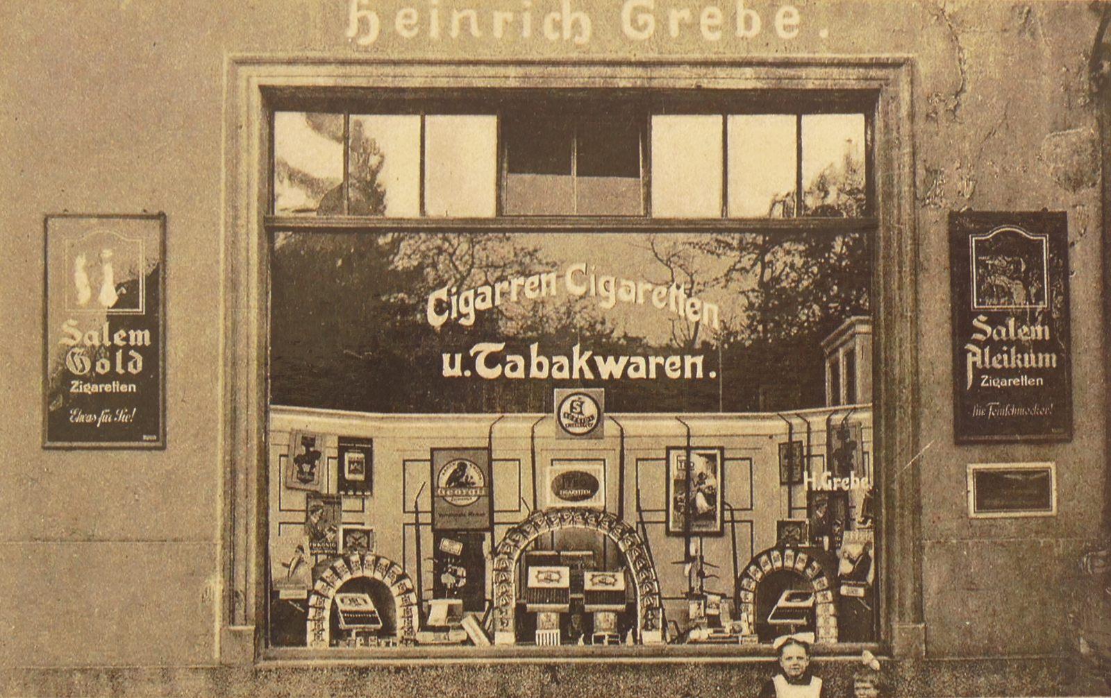 Heinrich Grebe Tabakwaren in den 1920ern