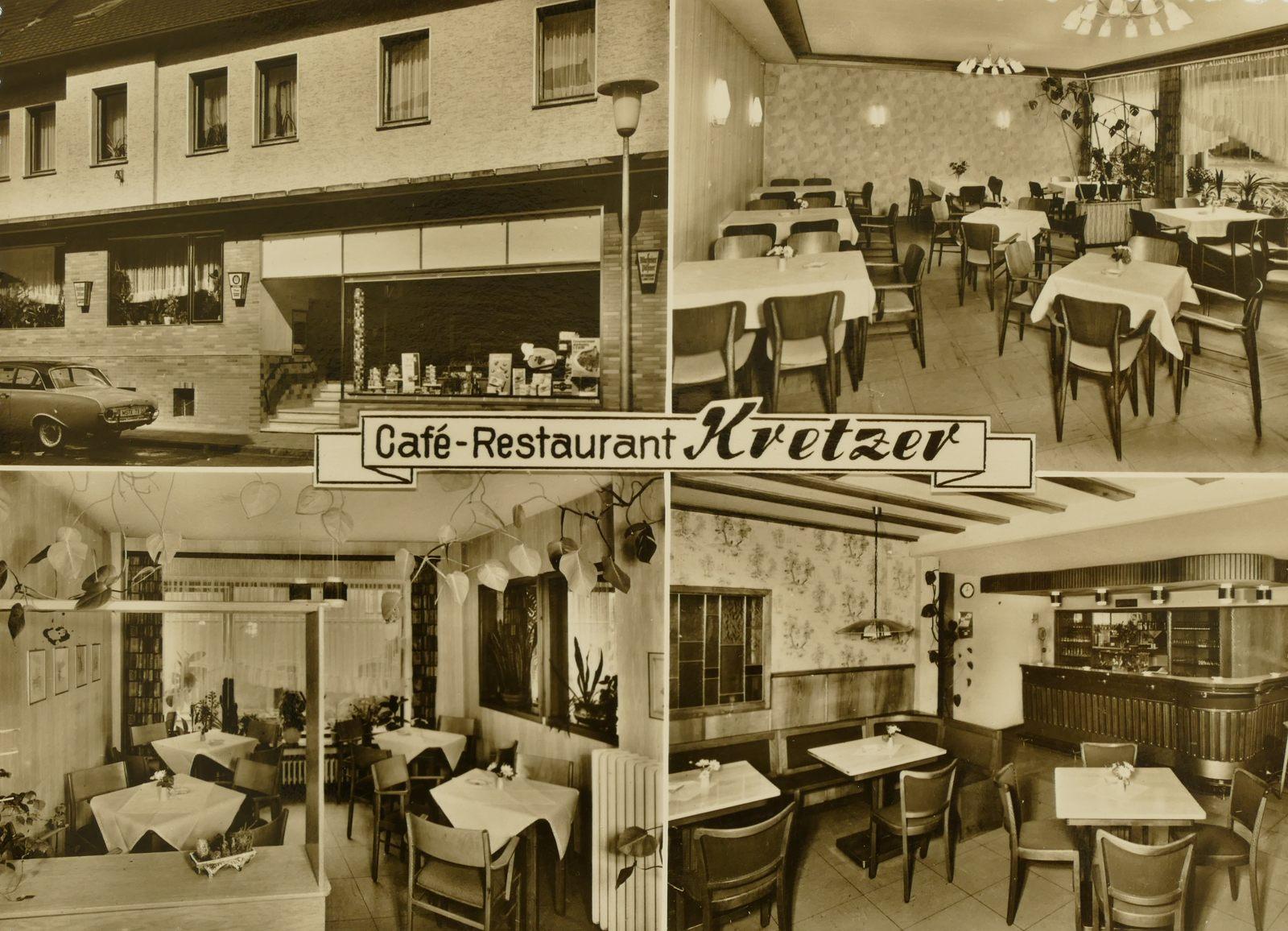 Café Restaurant Kretzer 1960er