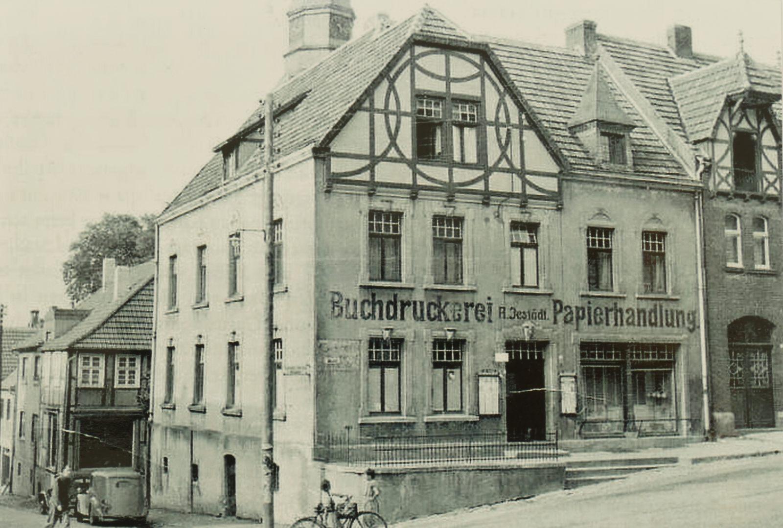 Buchdruckerei und Papierhandlung Jestädt in den 1940ern