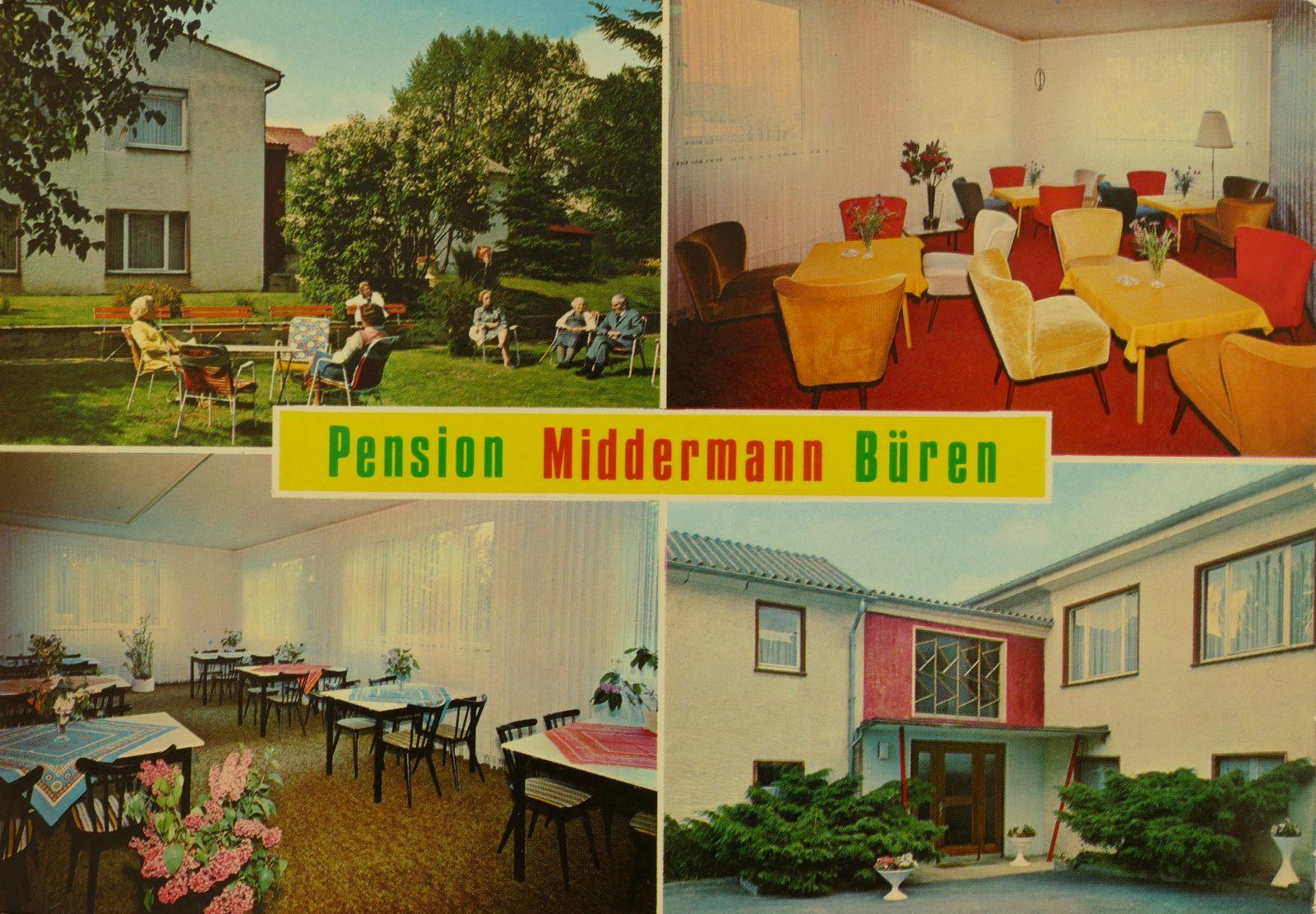 Pension Middermann in den 1970ern (Neubrückenstraße)