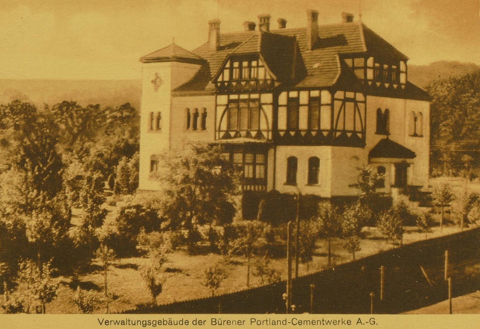 Verwaltungsgebäude Zementwerke Portland 1918