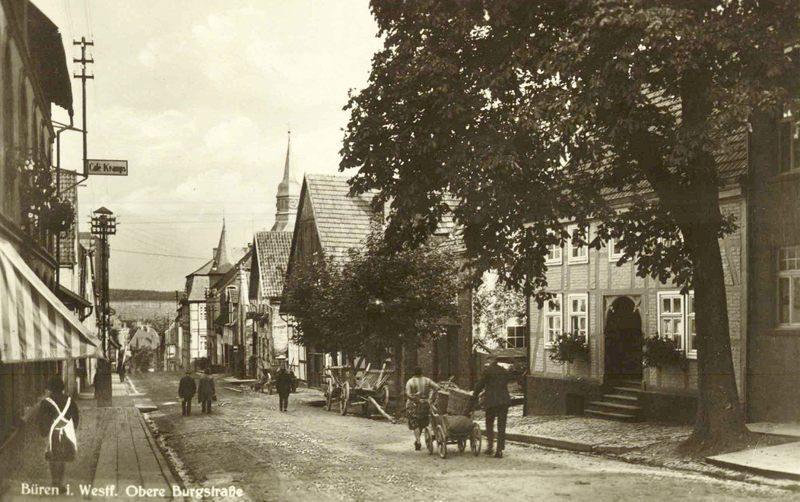 1920er Burgstraße ab Kramps