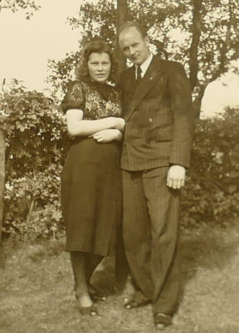 1940er Papa und Frau