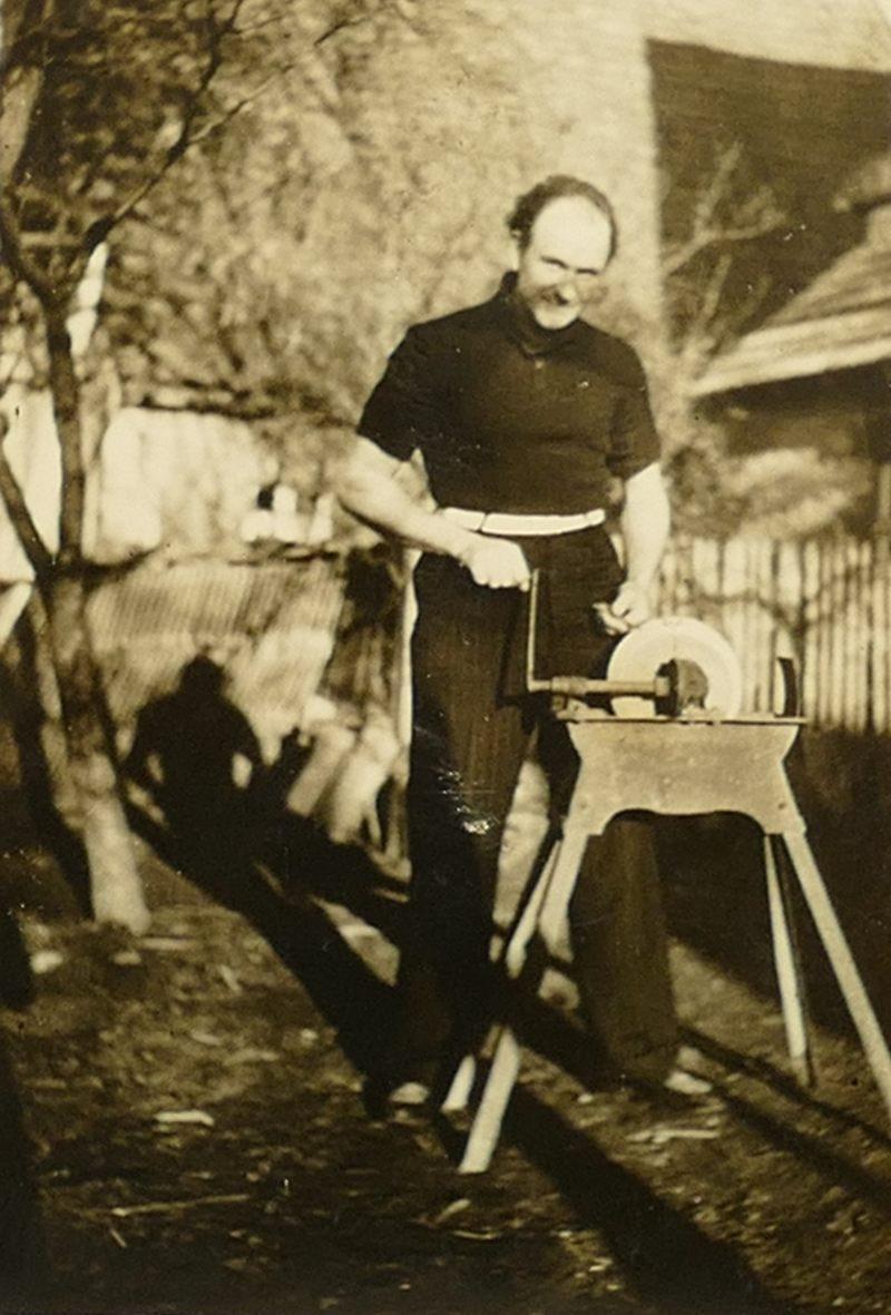 1950er Papa Schleifstein