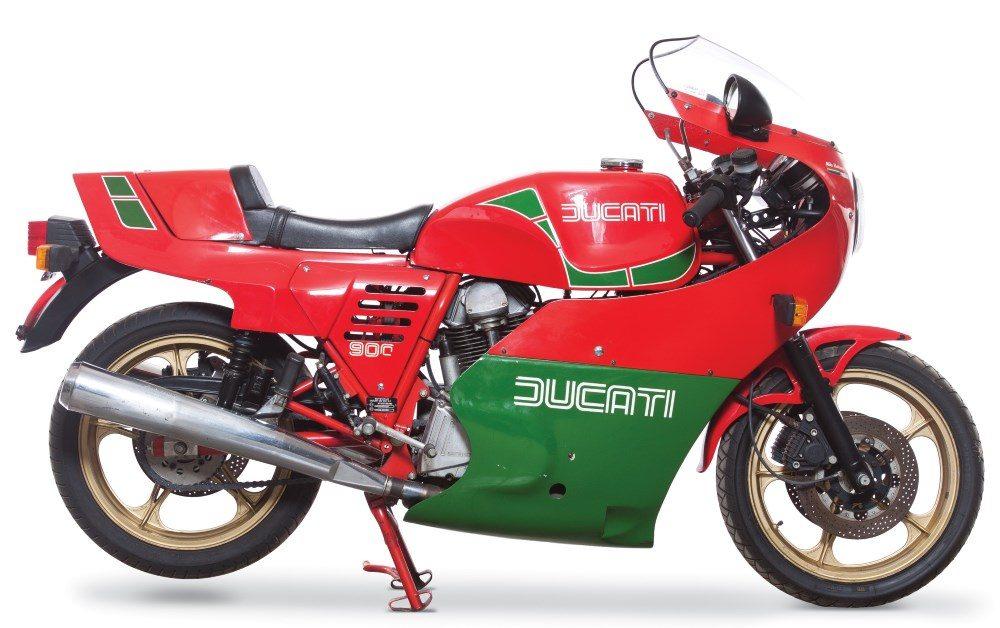 1980er Ducati 900SS Hailwood Replica