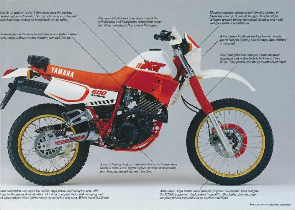 1980er Yamaha XT600 Bild2
