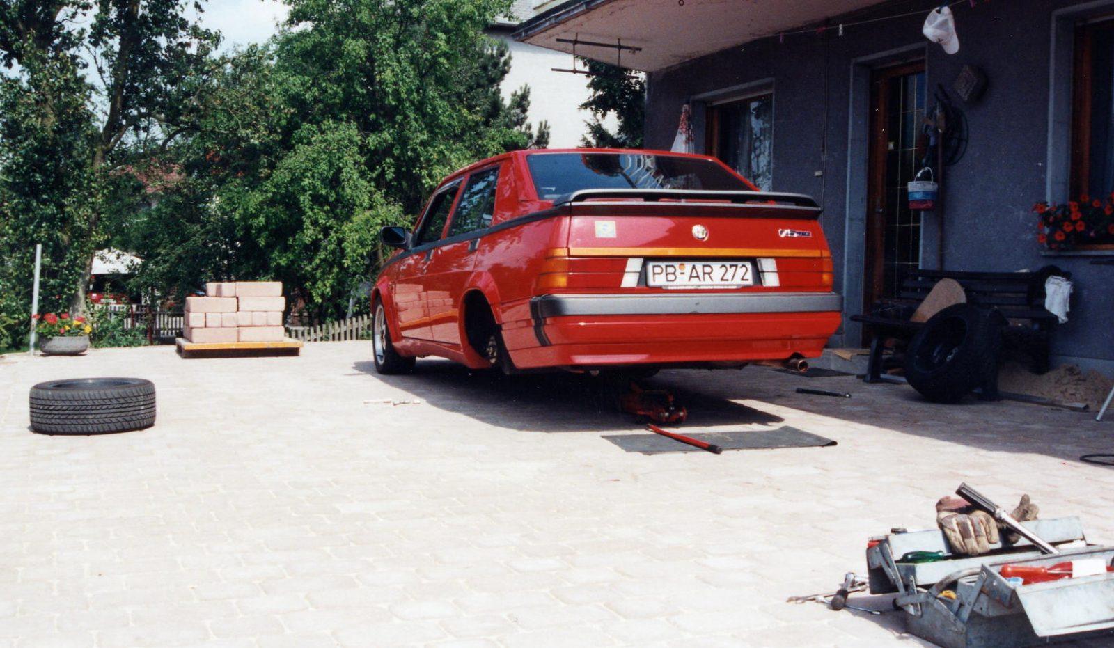 1995 AR75 aufgebockt