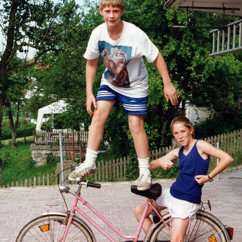 1995 Chris Lexi auf Fahrrad