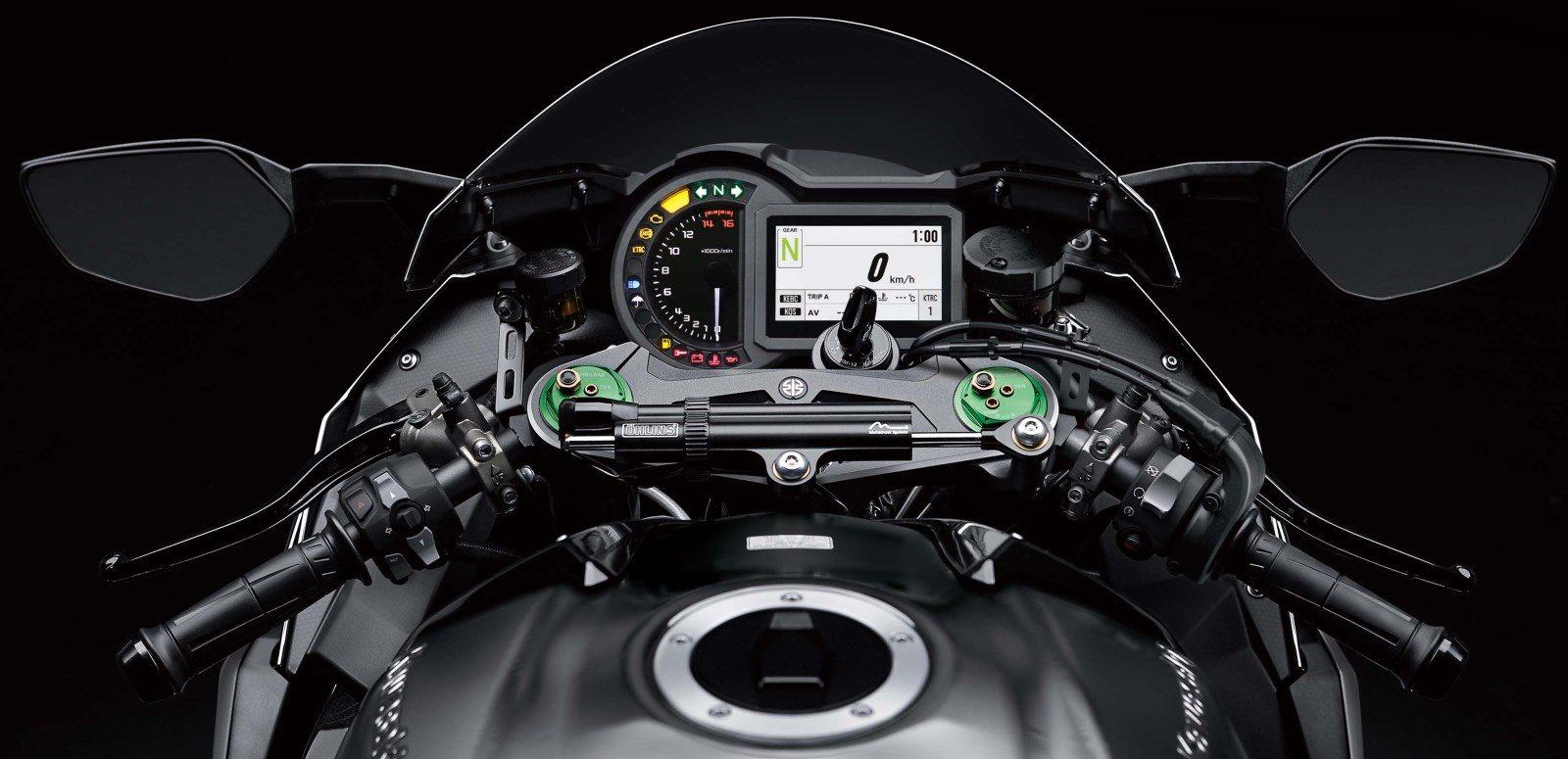 2010er Kawasaki ZX1000 H2 Cockpit