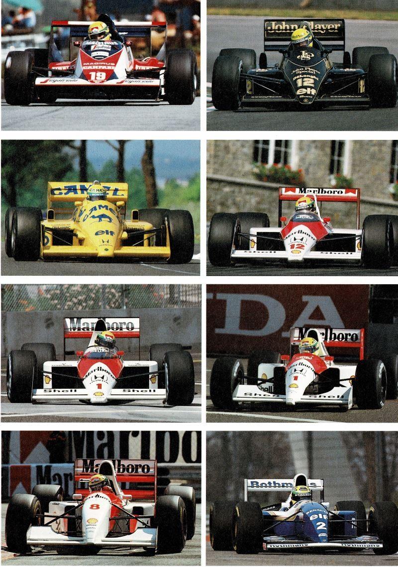 Ayrtons Formel 1 Autos
