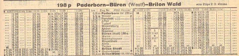 G03 Kursbuchauszug 1944 PB bis BRI