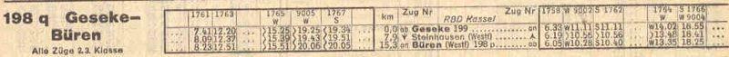 G04 Kursbuchauszug 1944 Ges bis Bür