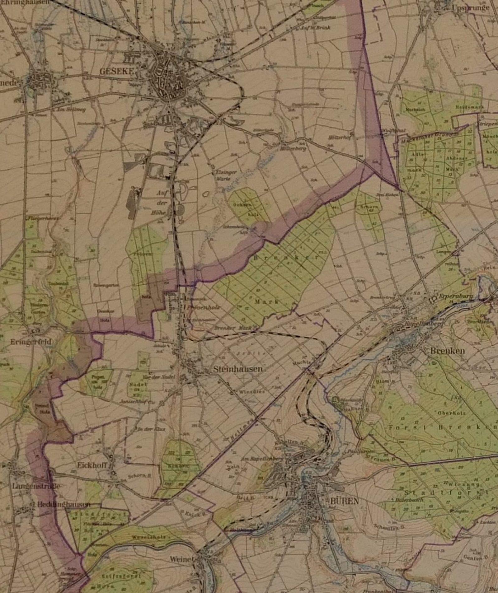 Karte Büren_Geseke1956_1012px