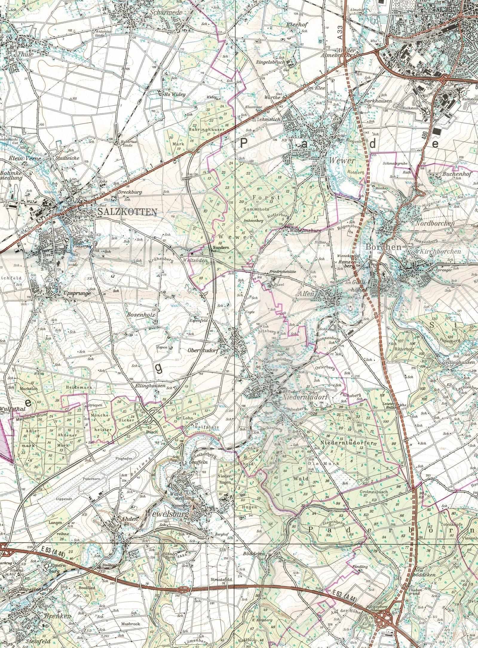 Karte Brenken_Paderborn_1600